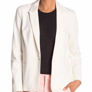 Adrianna Papell Solid Notch Collar Blazer